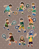 Tennis stickers Royalty Free Stock Photography