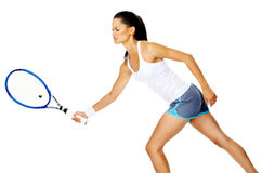 Tennis stroke woman Royalty Free Stock Photography
