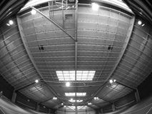 Tennis Structure B/W. A large structure viewed through a fisheye lens Stock Image