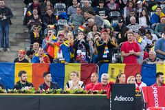 Tennis supporters, fans applauding in the tribune Royalty Free Stock Photography