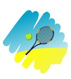 Tennis symbol Stock Photography