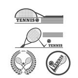 Tennis symbol design over white background  illustration e Royalty Free Stock Photo