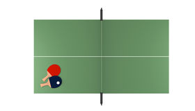 Tennis table with rackets Royalty Free Stock Images