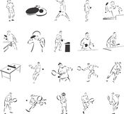 Tennis & Table Tennis Royalty Free Stock Images