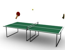 Tennis table. Royalty Free Stock Image