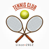 Tennis team club label Royalty Free Stock Photos