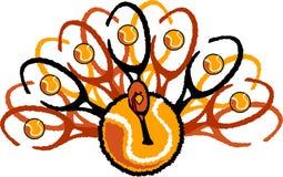 Tennis Thanksgiving Holiday Turkey Graphic royalty free illustration
