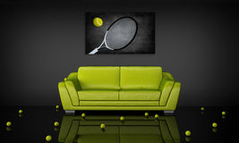 Tennis theme interior Stock Images