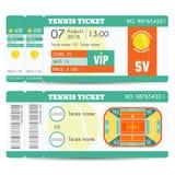 Tennis Ticket Modern Design. Tennis ball, field, stadium scheme with zone Stock Images