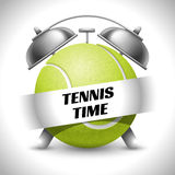 Tennis Time. Concept on Sport Tennis Theme. Time to Play Sports. Time to Watch Tennis Tournament. Time To Play Tennis. Vector Illustration.  On White Royalty Free Stock Photo