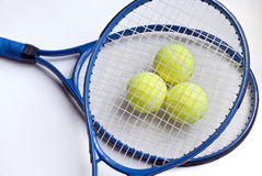 Tennis Tournament. Tennis Racket and balls on white Stock Photography