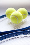 Tennis Tournament. Tennis objects, detail of balls Royalty Free Stock Photos