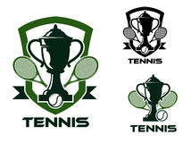 Tennis tournament badges and logo Royalty Free Stock Images
