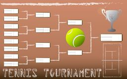 Tennis Tournament Bracket. Illustration of a Tennis Tournament Bracket Royalty Free Stock Image