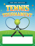 Tennis Tournament illustration Stock Photography