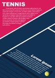 Tennis tournament poster design. Poster Vector template royalty free stock photography
