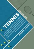 Tennis tournament poster design. Poster Vector template stock photos