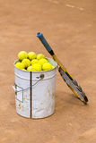 Tennis training Royalty Free Stock Images