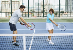 Tennis Training Coaching Exercise Athlete Active Concept royalty free stock images