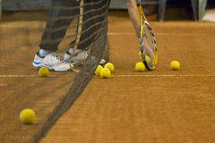 Tennis training Royalty Free Stock Photo