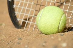 Tennis training in wilderness Royalty Free Stock Images