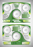 Tennis tri fold flyer template vector illustration