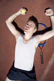 Tennis Triumph Royalty Free Stock Photography