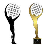 Tennis trophy. Vector illustration of tennis trophy Royalty Free Stock Image