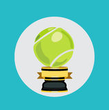 Tennis trophy flat design vector Royalty Free Stock Image