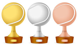 Tennis trophy set Royalty Free Stock Photography