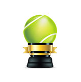 Tennis trophy  on white Stock Image