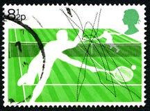 Tennis UK Postage Stamp Stock Photo
