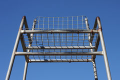 Tennis Umpire Chair. Tennis Umpre Chair against blue sky background stock photo