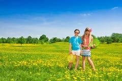 Tennis und Mädchen Lizenzfreies Stockfoto