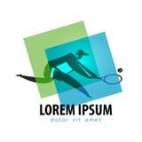 Tennis vector logo design template. tennis racquet Stock Photos