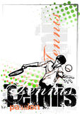 Tennis vector poster background Royalty Free Stock Photos
