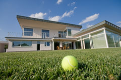 Tennis villa Stock Images