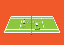 Tennis Volley Vector Illustration Royalty Free Stock Photo