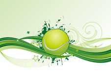 Tennis with wave. Illustration of tennis sport Stock Photography