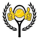 Tennis winner symbol Stock Image