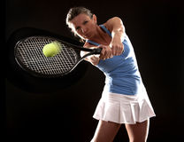 Tennis woman Royalty Free Stock Photos