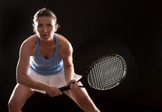 Tennis woman Stock Image