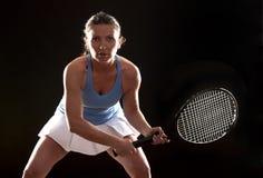 Tennis woman Royalty Free Stock Image