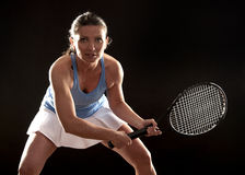 Tennis woman Royalty Free Stock Images