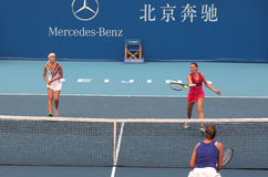 Tennis Women's doubles team Royalty Free Stock Photos