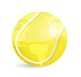Tennis world map ball illustration design. Over a white background Royalty Free Stock Image