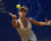Tennis WTA tour 2007 - Stefania Chieppa (ITA) royalty free stock photos