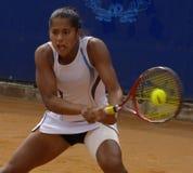 Tennis WTA tour 2007 - Teliana Pereira (BRA). WTA tennis tour 2007: Fontanaopen 25000 Stock Images