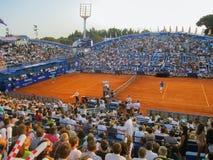 Tennisarena i ATP Umag, Kroatien Royaltyfria Foton