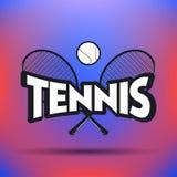 Tennisaufkleber und -ausweise Stockfoto